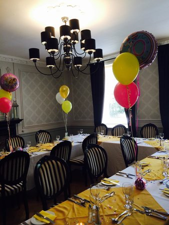 Sparth House Hotel: Dining room set for mums 70th.