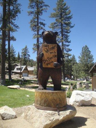 The friendly bear at the entrance to Boulder Bay Park in Big Bear Lake