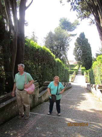 Villa d'Este: There are stairs!!!!