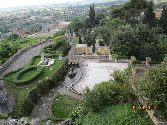 Villa d'Este: View from the villa looking down into the garden