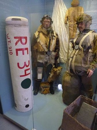 Airborne Museum Hartenstein: British resupply canister that was captured by the Nazis.