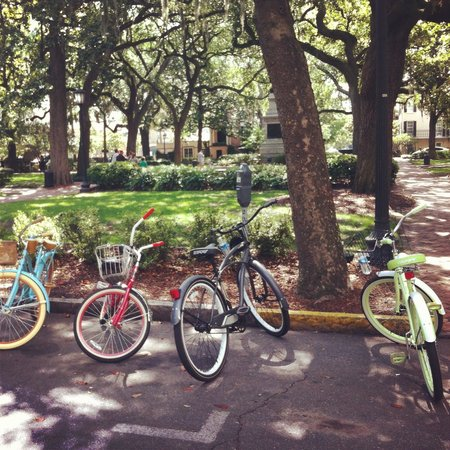 Savannah Bike Tours: Loved these cruisers for our tour