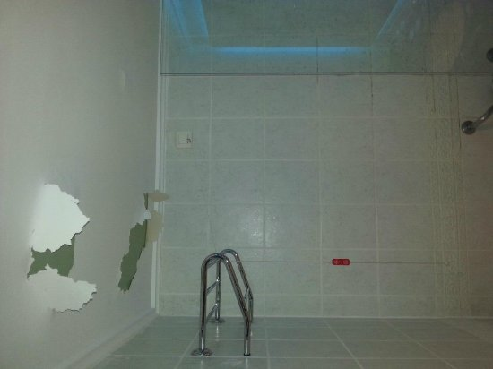 Grand Cevahir Hotel and Convention Center: Paint peeling off bathroom ceiling!