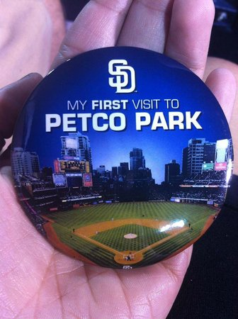 Petco Park: First time visitors button!