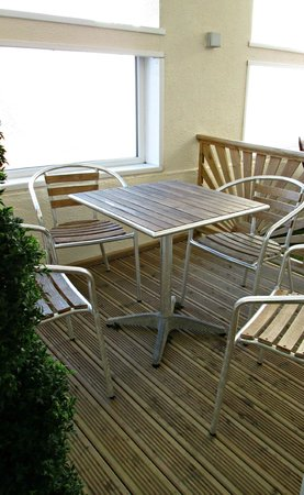 Burbage Holiday Lodge: First Floor Decking Area