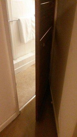 The Vaults: Bathroom door only opems 45 degree's