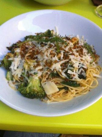 Lepelblad: pasta peccorino y verduras