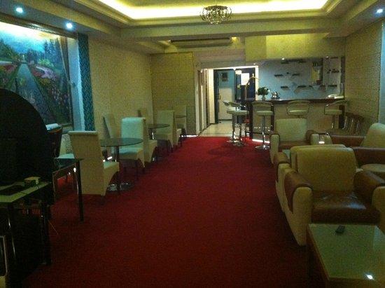 Elan Hotel: il salottino al piano reception