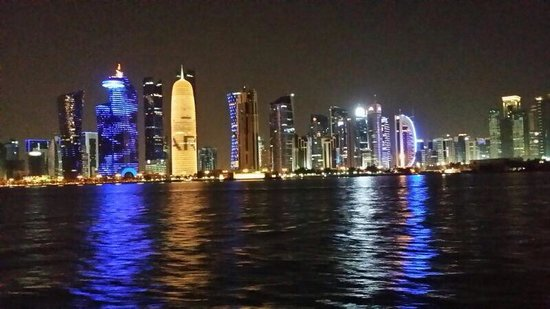 The Corniche: Beautiful view of Doha city from the boat