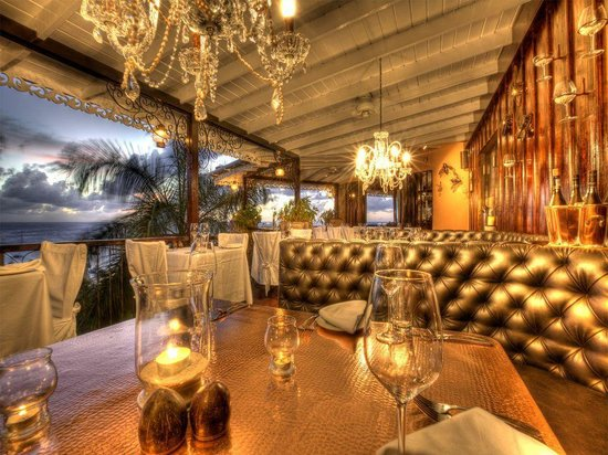 Firefly Mustique Hotel: The main restaurant