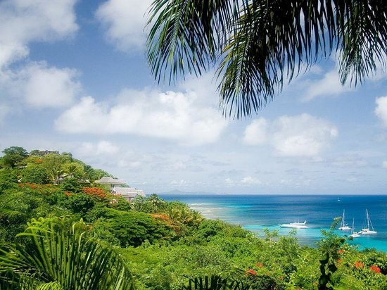 Firefly Mustique Hotel: Sea View from Firefly