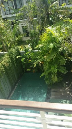 Kampoeng Villa : pool from upstairs