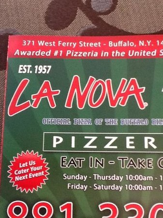 Photo of Italian Restaurant La Nova Wing Incorporated at 371 W Ferry St, Buffalo, NY 14213, United States