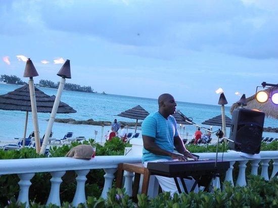 Sandals Royal Bahamian Spa Resort & Offshore Island: One Man Band. Incredible!!
