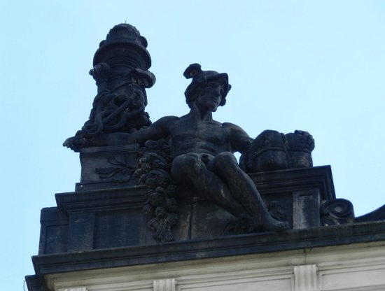 Old Town Square : Statue on Top of a Building