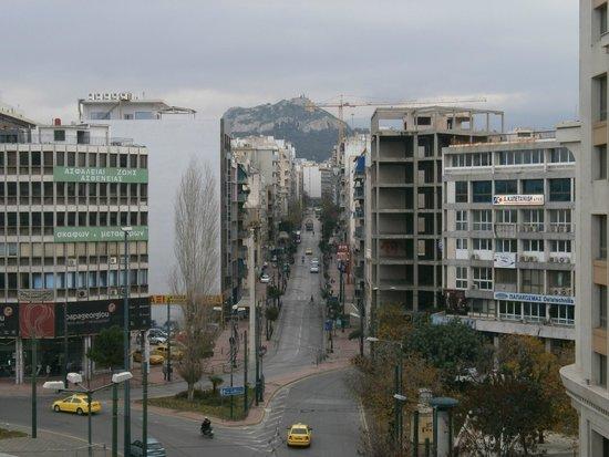 Crystal City Hotel: Vista da sacada para Acropole