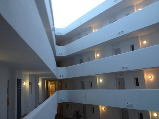 FERGUS Style Cala Blanca Suites: The layout of the hotel floors.