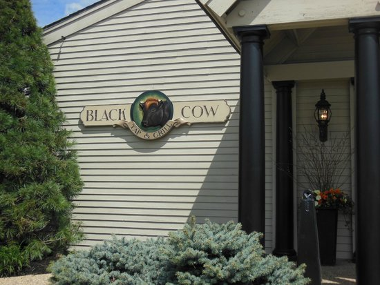 Black Cow Tap & Grill Sign