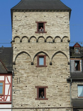Hotel Kranenturm: View from across the street - from our tower rooms