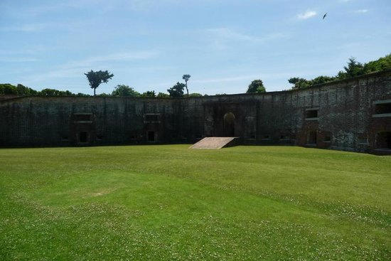 Fort Macon State Park: Inside the fort.