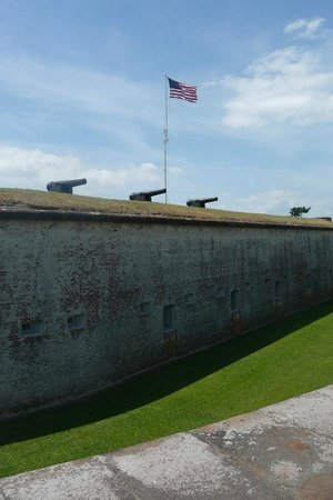 Fort Macon State Park: View of fort from the outside