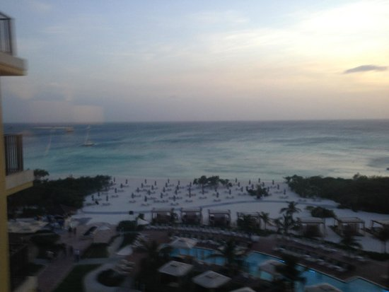 The Ritz-Carlton, Aruba: View from our room on the 5th floor at sun down
