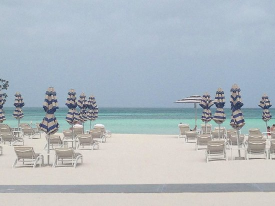 The Ritz-Carlton, Aruba: View of the beach early in the morning before anyone was there. It's perfect!