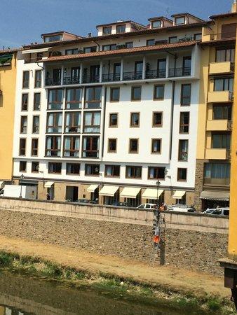 Portrait Firenze: The Hotel from the Ponte Vecchio Bridge view
