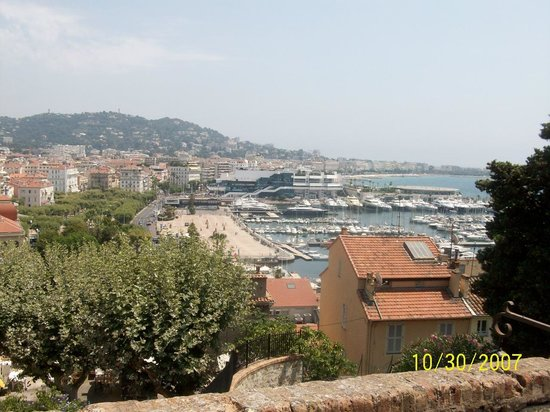 Petit Train de Cannes: vista de cannes