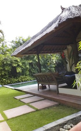 The Pavilions Bali: spacious garden with pool