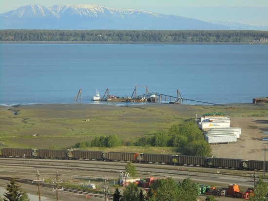 Hilton Anchorage: View from the Executive lounge 14th floor
