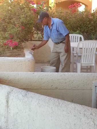 Terrasol Beach Resorts : He just showed up and started painting @ 7a.m.