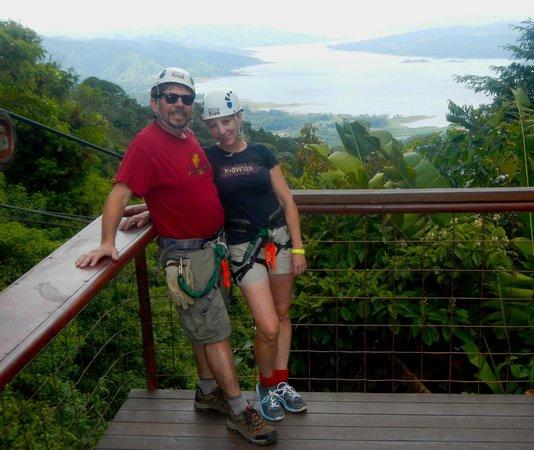 Costa Rica Sky Adventures - Arenal Park: platform above Lake Arenal