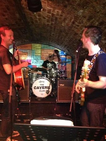 The Cavern Club: can get up and perform on stage