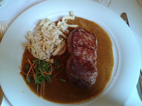 Hotel-Restaurant Waldhorn: Rumpsteak mit Spätzle