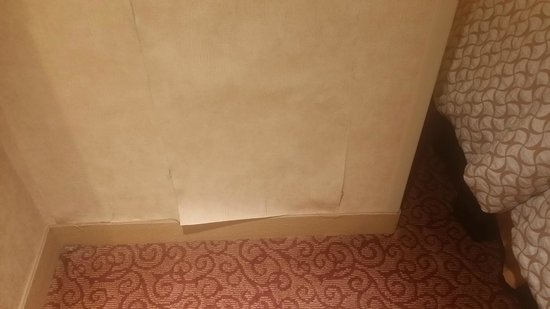 Embassy Suites by Hilton Dallas Frisco Hotel Convention Center & Spa : noticed that there was a problem with wallpaper