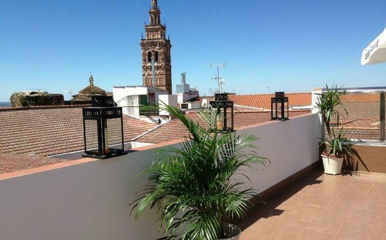 Oasis Hotel & Restaurante: Terraza