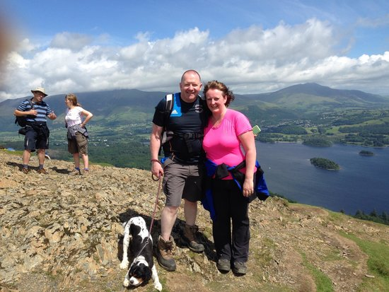Catbells Lakeland Walk: At the summit .... Dogs will manage fine xx