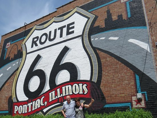 Just one pontiac mural picture of route 66 united for Route 66 mural