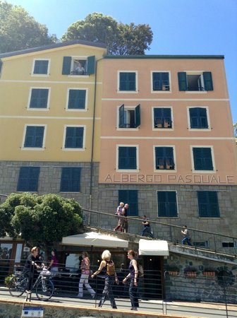 Hotel Pasquale - My room was top right open shutters.