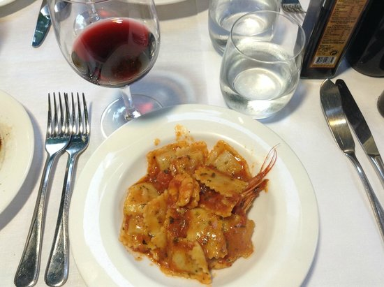 Ristorante Ciak: Close-up of shrimp ravioli