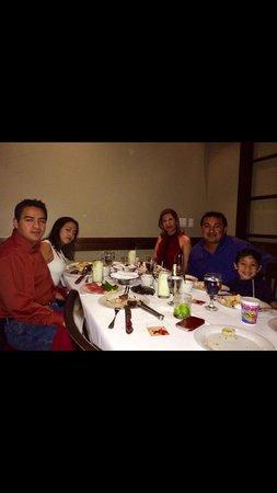 Chama Gaucha Brazilian Steakhouse: Families Gomez and Mauricio celebrating Valentine's Day 2014.!!!!!
