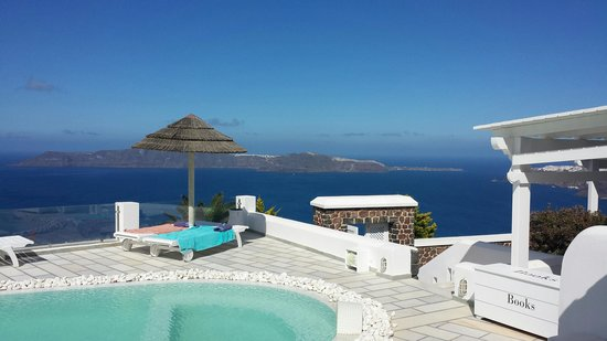 Santorini Princess: View from in front of our room