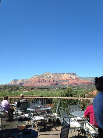Enchantment Resort : View from the resort's restaurant (outside tables)
