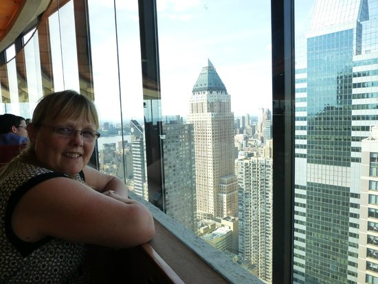 New York Marriott Marquis: 44th Floor the view from the revolving restaurant