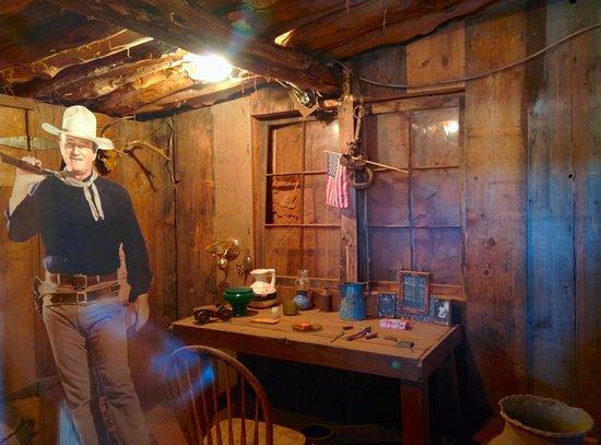 "Goulding's Lodge & Campground: John Wayne's ""cabin"" set (aka the potato cellar)"