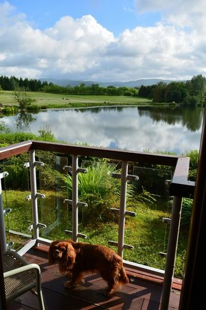 Days Inn Lockerbie Annandale Water: The small balcony and view to lake