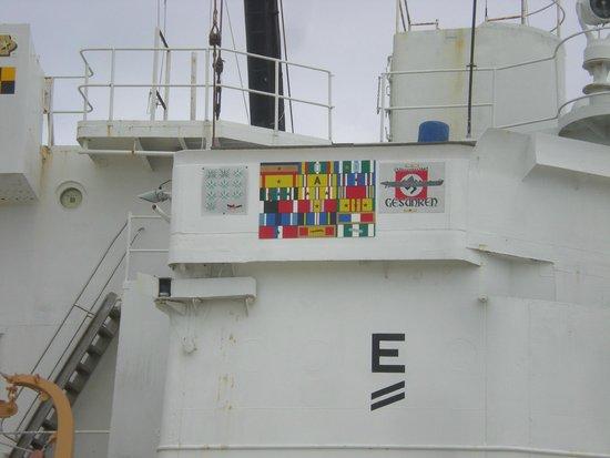 U.S. Coast Guard Cutter Ingham Maritime Museum: Service ribbons