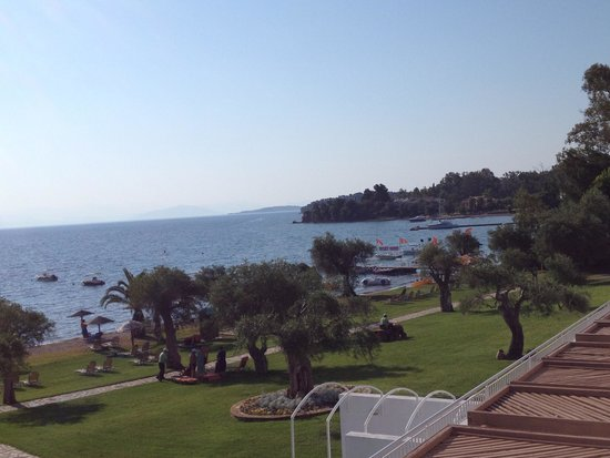 Dassia Chandris: View from the Hotel's terrace