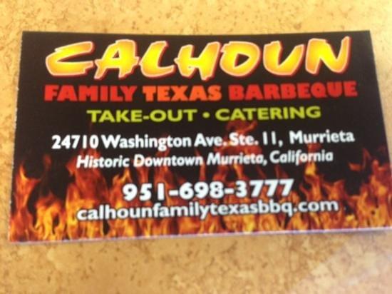 Calhoun's Texas BBQ: off the beaten path...